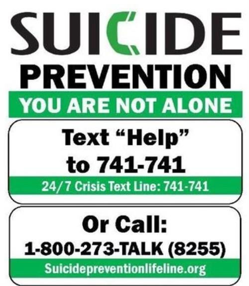Suicide Prevention Phone #'s