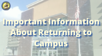Important Information About Returning to Campus