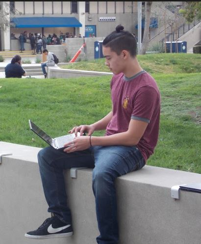 Student working at CSUF