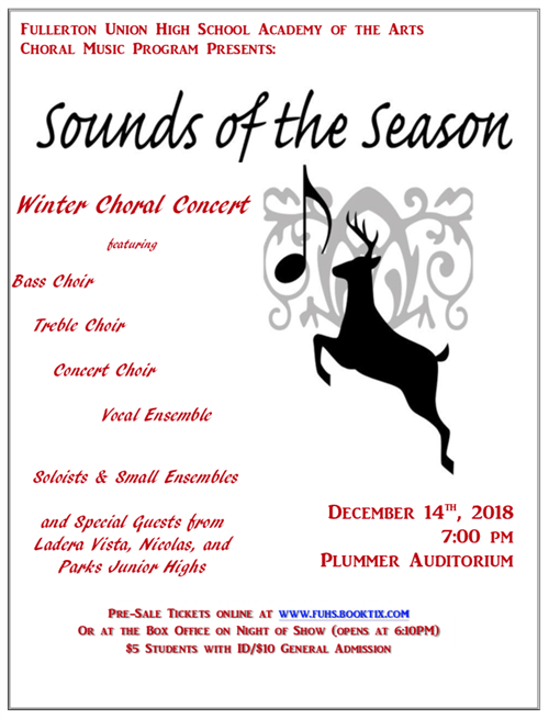 Winter Choral Concert: Sounds of the Season!