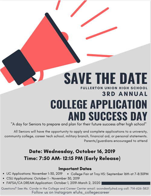 3rd Annual College Application and Success Day