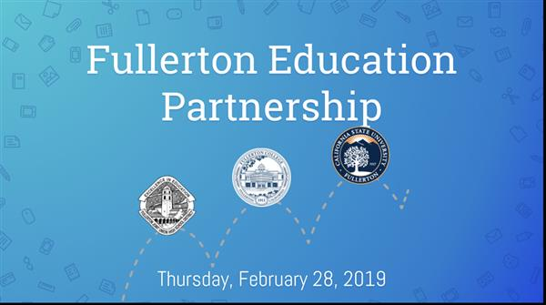 Fullerton Educational Partnership Announcement