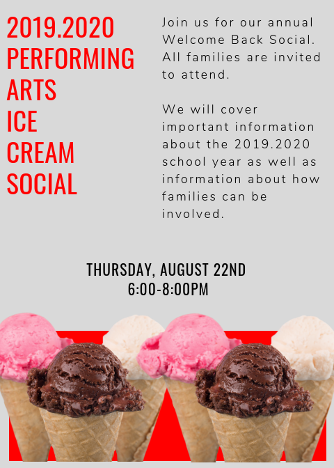Performing Arts Parent Info Night and Ice Cream Social