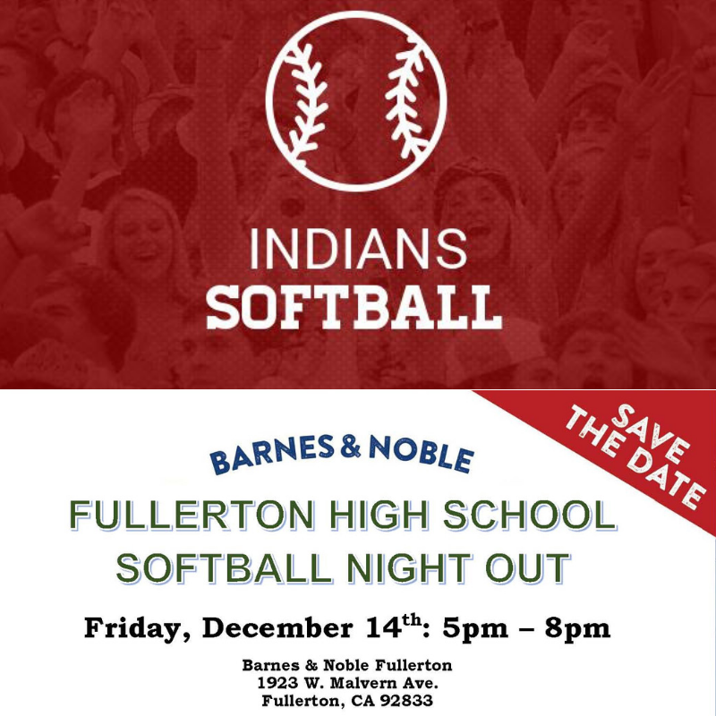 Fullerton High School Softball Night Out