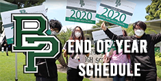 End Of Year Schedule 2020